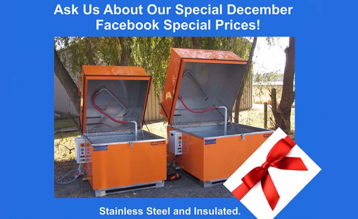 December Facebook Price Specials on Parts Washers