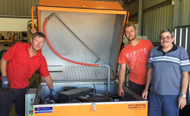 Delivered a Parts Washer to Mudgee NSW this week.