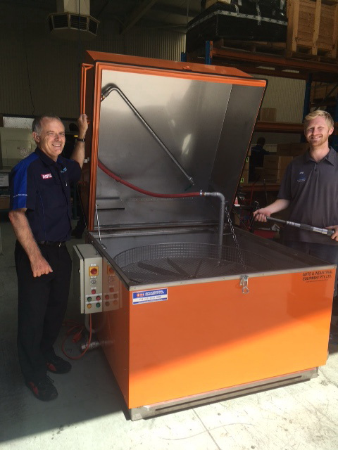 Delivery of Model 1220 Stainless Steel Parts Washer to Pfitzner Gearboxes in Adelaide.