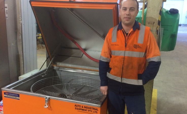 SA Power Networks Taking Delivery of Their New Stainless Steel Parts Washer.