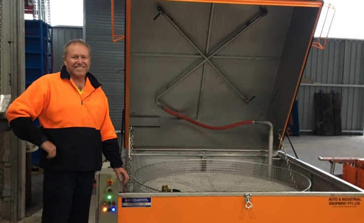 Quarry Mining Takes Delivery of their new Special Build 1550 Stainless Steel Parts Washer