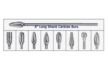 6″ Long Shank Carbide Burs